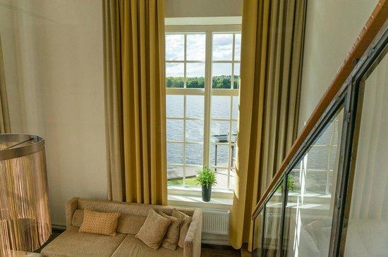 Naas Fabriker Hotel och Restaurang: Daytime view from Room 108