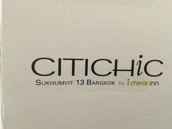 Citichic by iCheck Inn: банные принадлежности
