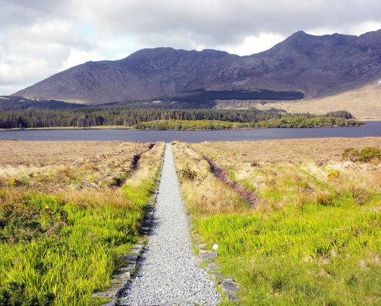 View from Lough Inagh Lodge