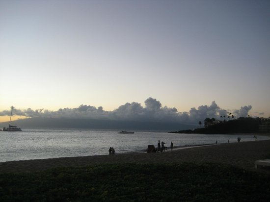 Aston at The Whaler on Kaanapali Beach: Dusk on the beach in front of the Whaler