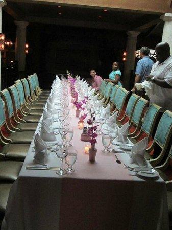Sandals Royal Bahamian Spa Resort & Offshore Island: Dinner at Cassanova the night before the wedding