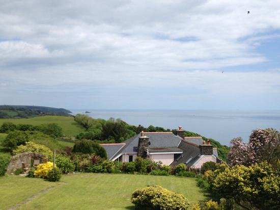 Strete Barton House: view from the garden