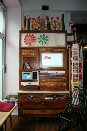 The Circus Hostel: Neat furniture in Circus Hostel