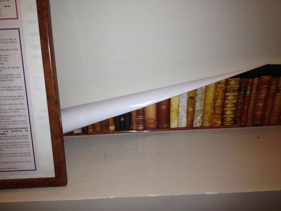 Hotel Louvre Rivoli: Paper hanging off walls.