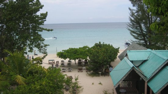 Firefly Beach Cottages: view from balcony of our honeymoon suite