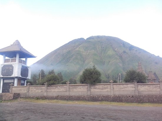 Bromo Tengger Semeru National Park, Indonesia: temple at the sand sea