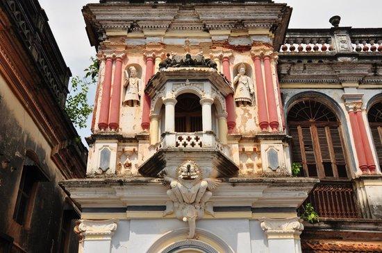 Chettiar Mansion : detalle de una fachada