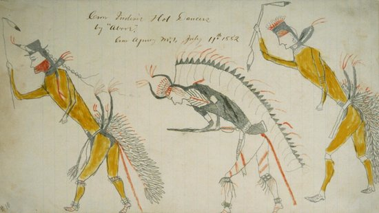 Bair Family Museum: Drawing of Crow Hot Dancers