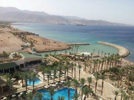 Herods Vitalis Spa Hotel Eilat : View from our room(Junior suite) at the 12th floor