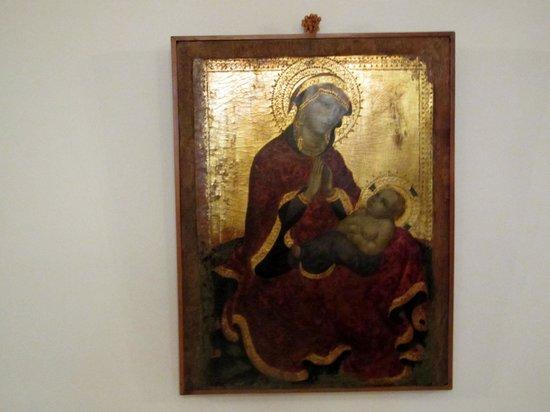Civico Museo Sartorio : Madonna dell'Umiltà di Jacobello del Fiore (1420 ca)