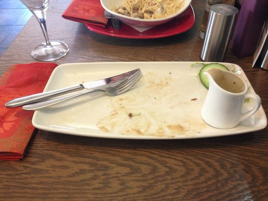 Harry's: empty plate!