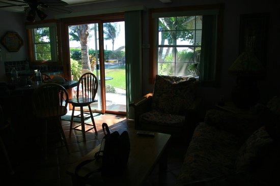 Angelinos Sea Lodge: Aussicht auf die Terasse