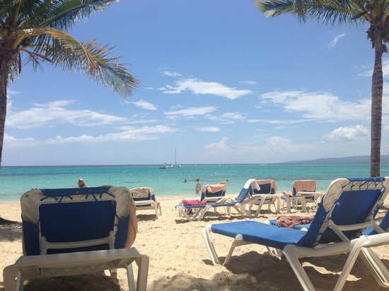 View From My Beach Chair Picture Of Hotel Riu Ocho Rios