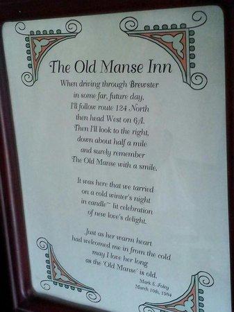 The Old Manse Inn: Old Manse Inn