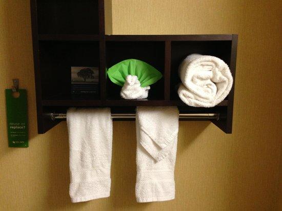 Hampton Inn & Suites Orlando International Drive North: Decoração do banheiro!!!!