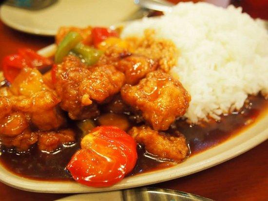 H K  Wonton Garden : Sweet and Sour Chicken