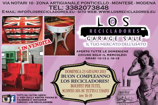 Los recicladores il tuo mercato dell 39 usato montese for Mercato del mobile usato milano