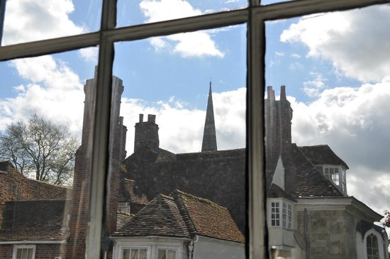 The Chapter House : View of the cathedral spire from our room, No. 7