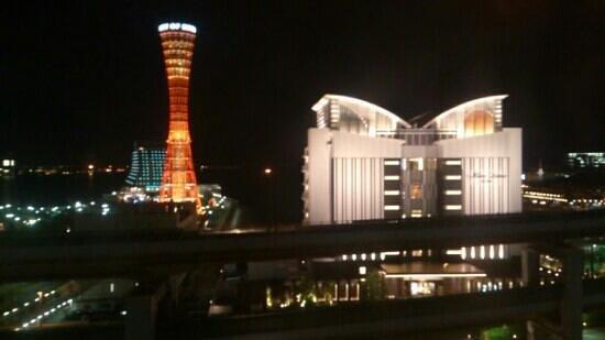 Kobe Port Tower Hotel : 部屋から見える夜景