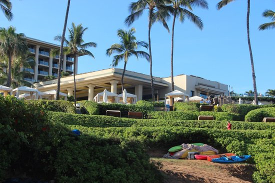 Four Seasons: View of hotel from beach area