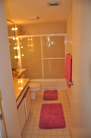 1800 Atlantic Suites: Hall bathroom.