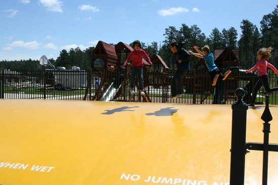 Mount Rushmore / Hill City KOA: but nothing beats the play areas!