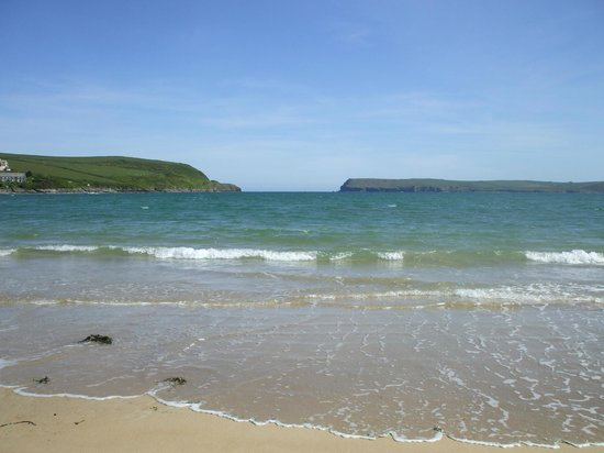 From Tregirls beach out past stepper point to the open sea.