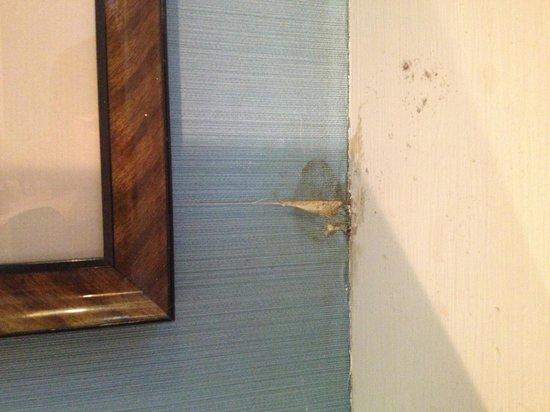 Mendocino Hotel and Garden Suites: Peeling wallpaper