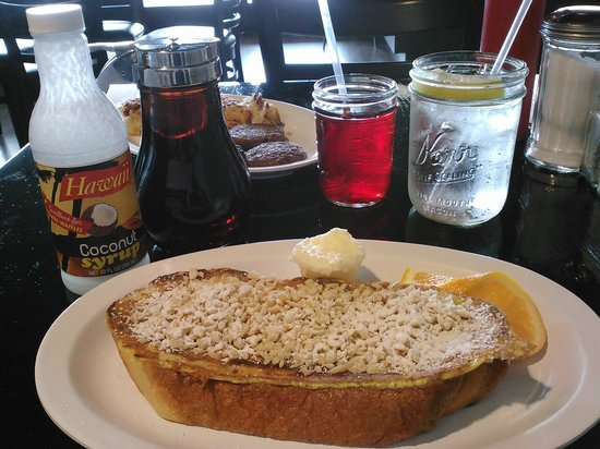 Bread Crumb: French toast topped with macademia nuts.
