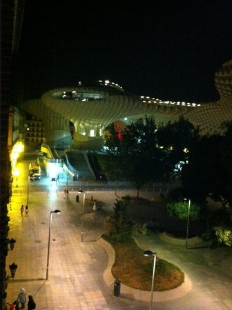 Oasis Seville: View from the terrace to the Parasol