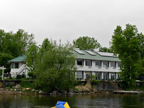 Elmhirst's Resort: Main Building from Water