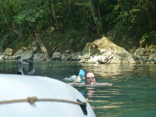 Cave Tubing R Us: Swimming