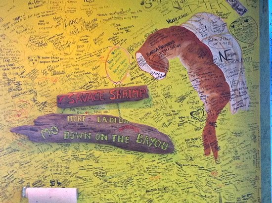 Savage Shrimp: Graffiti wall