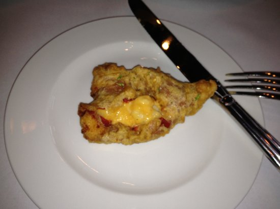 Chef Joseph's at the Connoisseur Room: Piquillo peppers stuffed with Mac and cheese