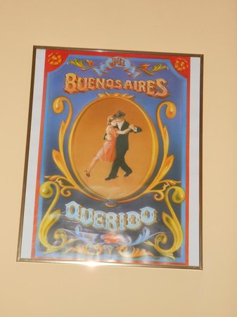 Tango House Bed & Breakfast: charming poster art in my room