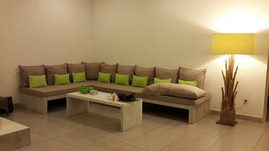 Bali Cosy Villa: living room, tv should be added.