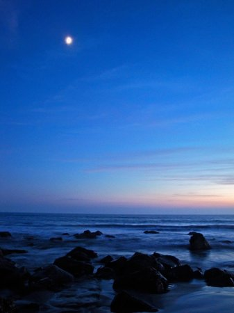 Dan McGeorge Gallery: Crescent Moon over Coronado Beach