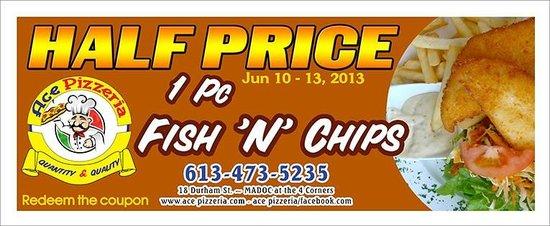 Ace Pizzeria & Restaurant : 1 pc fish&chips