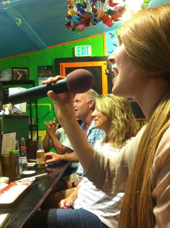 Wayne's Sushi: Singing Karaoke at Wayne's