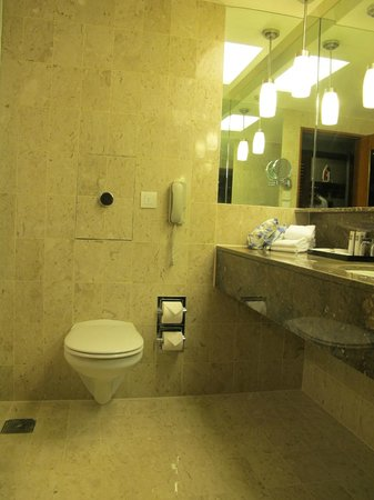Swissotel The Stamford Singapore: Squeaky Clean, Spacious Bathroom
