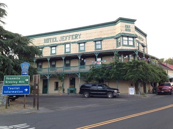 Hotel Jeffery: The oldest saloon hotel in California.