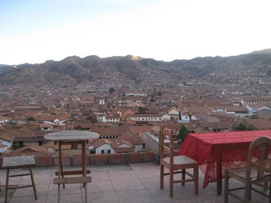 Cusco View Point: view from the terrace