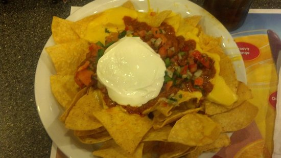 What Eight Dollar Nachos Look Like at Denny's