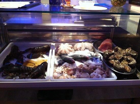 Masticabrodo : Fresh Seafood on display