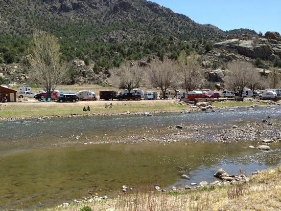 Sweetwater River Ranch: view from across the river by tent sites