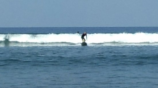 Zack Howard Surf: Up on my first try! This is the second.
