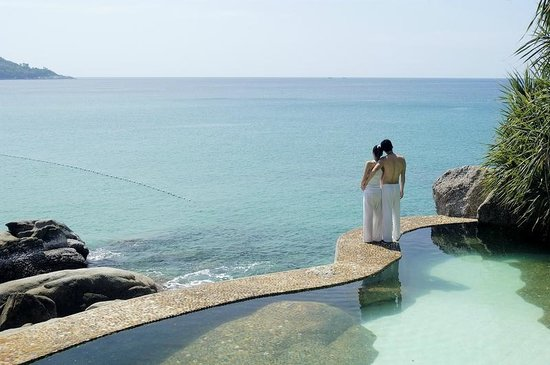 Kata Noi Beach: A view of Kata Noi bay from Mom Tri's Villa Royale