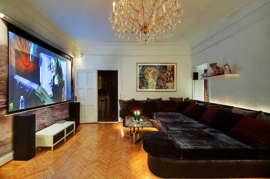 Luxury Apartments Stockholm: Home cinema