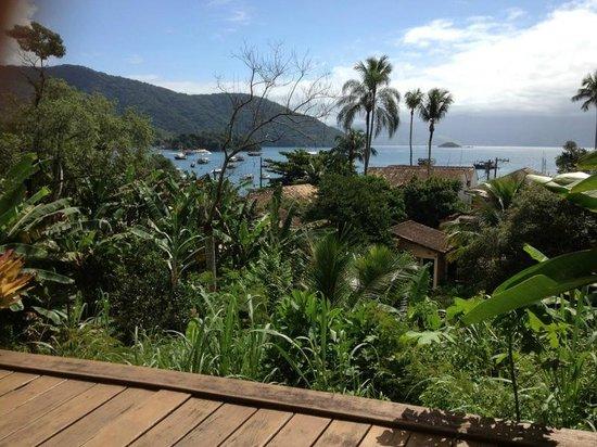 Pousada Tagomago Beach Lodge: Blick von der Frühstücksterrasse