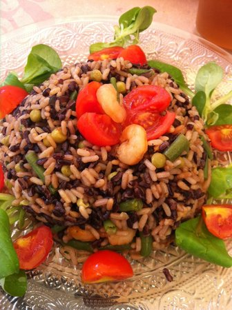 Cantina del Convento : riso con verdure e gamberi